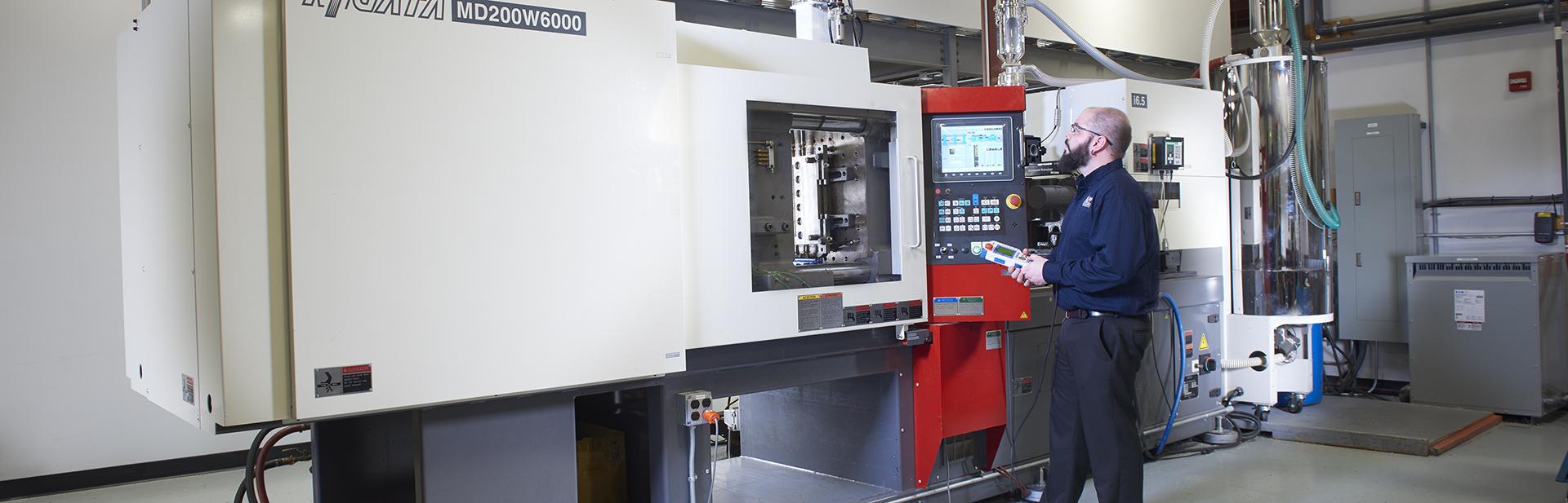 Plastics injection molding company plant